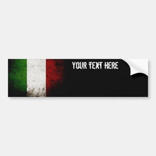 Drapeau grunge noir de l'Italie Adhésif Pour Voiture