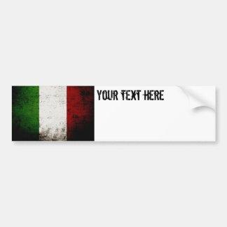 Drapeau grunge noir de l'Italie Autocollant De Voiture