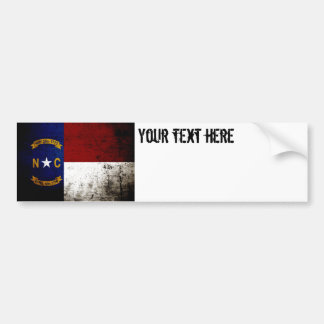 Drapeau grunge noir d'état de la Caroline du Nord Autocollant De Voiture