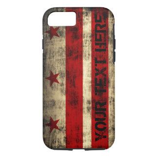 Drapeau grunge personnalisé de Washington DC Coque iPhone 7