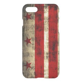 Drapeau grunge vintage de DC de Washington Coque iPhone 7