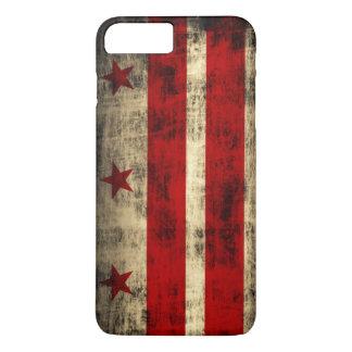 Drapeau grunge vintage de DC de Washington Coque iPhone 7 Plus