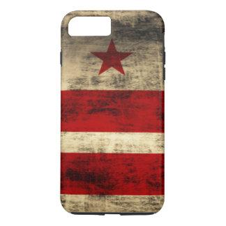 Drapeau grunge vintage de DC de Washington Coque iPhone 8 Plus/7 Plus