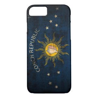 Drapeau grunge vintage de Key West la Floride Coque iPhone 8/7
