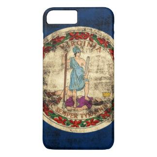 Drapeau grunge vintage d'état de la Virginie Coque iPhone 7 Plus