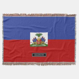 Drapeau haïtien classique couvre pied de lit