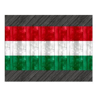 Drapeau hongrois en bois carte postale