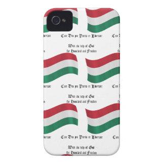 Drapeau hongrois et devise coques iPhone 4