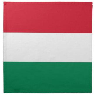 Drapeau hongrois sur la serviette de MoJo