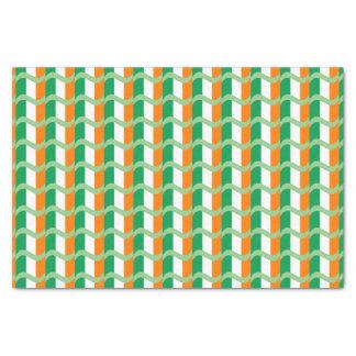 Drapeau irlandais modelé papier mousseline