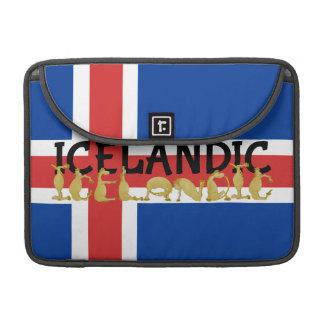 Drapeau islandais du cheval | de l'Islande Poche Pour Macbook