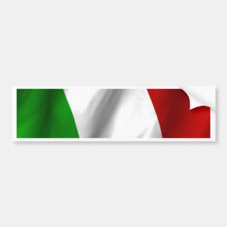 Drapeau italien autocollant de voiture