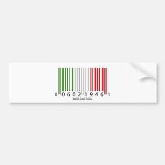 Drapeau italien de code barres autocollant de voiture
