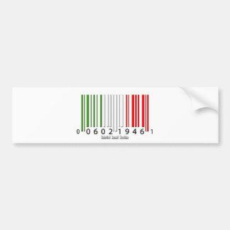 Drapeau italien de code barres autocollant pour voiture