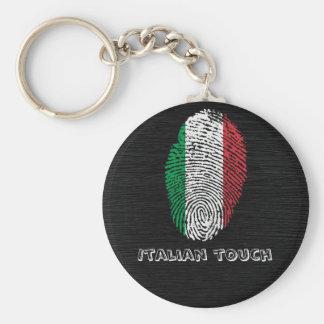 Drapeau italien d'empreinte digitale de contact porte-clés