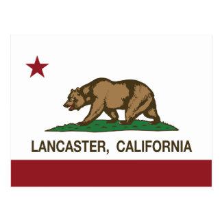 Drapeau Lancaster d'état de la Californie Carte Postale