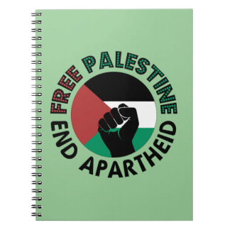 Drapeau libre de la Palestine d'apartheid de fin Carnet