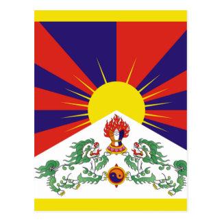 Drapeau libre du Thibet de Tibétain - ་ de བཙན de Carte Postale