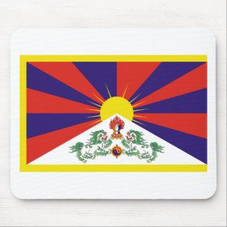 Drapeau libre du Thibet de Tibétain - ་ de བཙན de Tapis De Souris