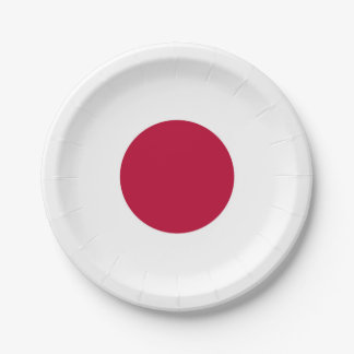 Drapeau national du Japon Assiettes En Papier