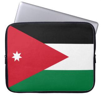 Drapeau national du monde de la Jordanie Housse Pour Ordinateur Portable