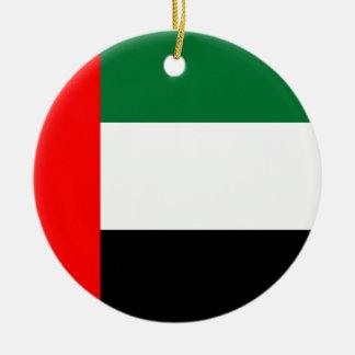 Drapeau national du monde des Emirats Arabes Unis Ornement Rond En Céramique