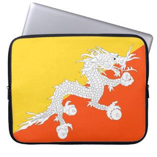 Drapeau national du monde du Bhutan Protection Pour Ordinateur Portable