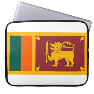 Drapeau national du monde du Sri Lanka Housse Pour Ordinateur Portable