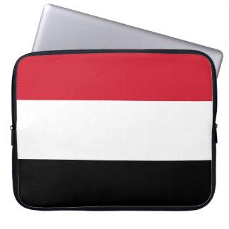 Drapeau national du monde du Yémen Housse Pour Ordinateur Portable