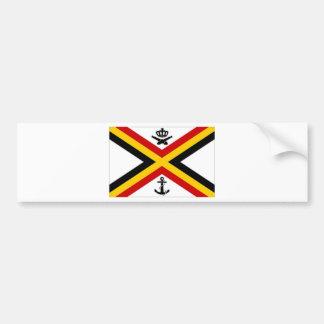 Drapeau naval de drapeau de la Belgique Adhésifs Pour Voiture