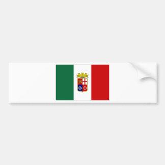 Drapeau naval de l'Italie Autocollant De Voiture