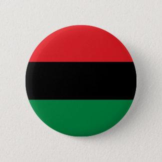 Drapeau noir et vert rouge du partisan du badge rond 5 cm