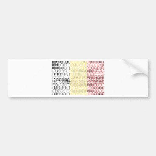 drapeau numérique (Belgique) Adhésif Pour Voiture