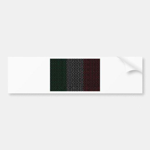 drapeau numérique Italie Adhésif Pour Voiture