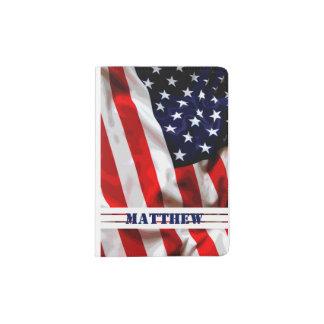 Drapeau patriotique américain - support fait sur protège-passeports