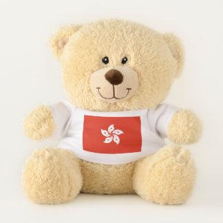 Drapeau patriotique d'ours de nounours de Hong
