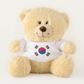 Drapeau patriotique d'ours de nounours de la Corée