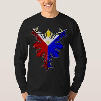 Drapeau philippin Sun et longue chemise de douille T-shirt