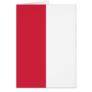 Drapeau polonais carte de vœux