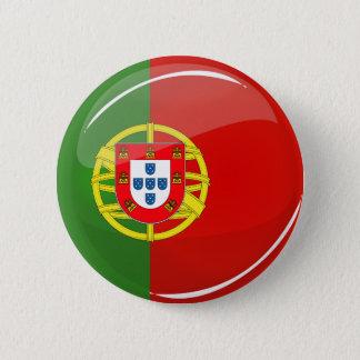Drapeau portugais rond brillant badge rond 5 cm