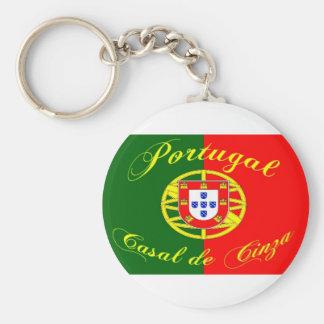 drapeau-portugal porte-clé rond