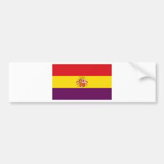 Drapeau républicain espagnol - Bandera República Autocollant De Voiture