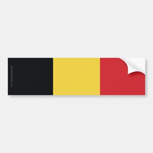 Drapeau simple de la Belgique Adhésif Pour Voiture