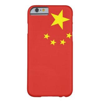 Drapeau simple de la Chine Coque iPhone 6 Barely There
