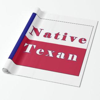 Drapeau solitaire texan indigène d'étoile papier cadeau