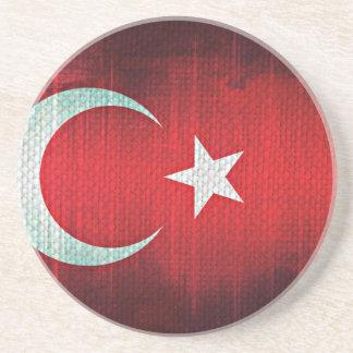 Drapeau stylisé de la Turquie Dessous De Verre En Grès