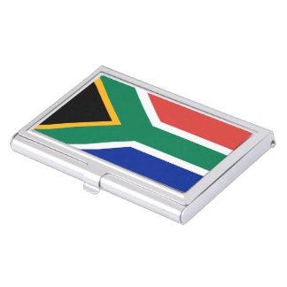 Drapeau sud-africain boîtiers pour cartes de visite