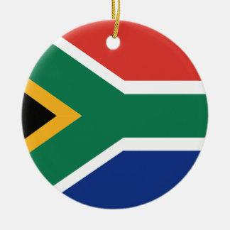 Drapeau sud-africain ornement rond en céramique