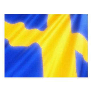 Drapeau suédois carte postale