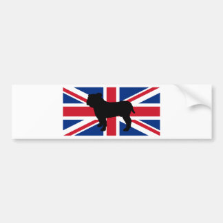drapeau United_Kingdom.png de silhouette de Autocollant De Voiture